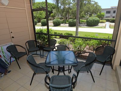 Photo for Comfortable  Ground Level Condo On Sanibel Steps From The Beach