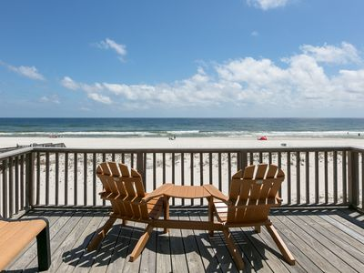 Photo for Unbeatable Gulf front house w/water views from private & furnished sun decks