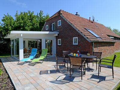 Photo for cozy Friesenhaus with garden and conservatory, near Carolinensiel