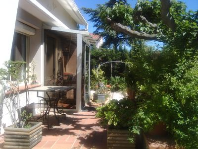 Photo for CANET-Pretty house, enclosed garden, wifi, air conditioning.TV, parking, near beach