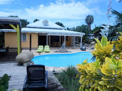 Photo for Creole villa with pool, air conditioning and WIFI -3 bedrooms-near beaches / golf / restaurant