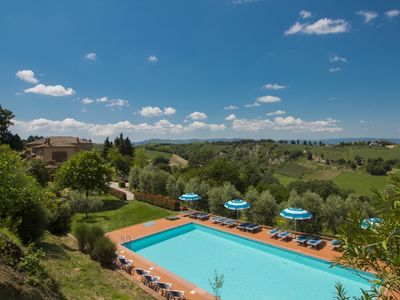 Photo for 2 bedroom Apartment, sleeps 6 in Montaperti with Pool, Air Con and WiFi