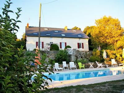 Photo for Authentic farmhouse with heated swimming pool and panoramic view