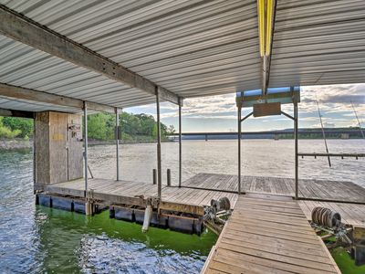Photo for NEW! Lakefront Greers Ferry Cabin w/ Boat Slip!
