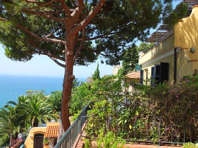 Photo for Apartment with beautiful terrace overlooking the sea
