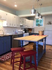 Kitchen with locally crafted maple island