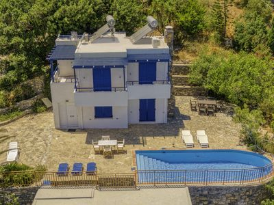 Photo for Schisma Eloundas Holiday Home, Sleeps 7 with Pool, Air Con and WiFi