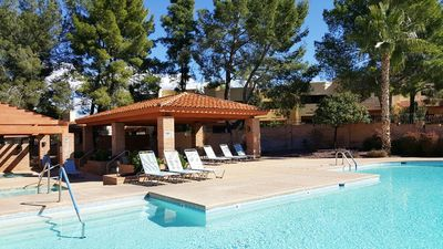 Photo for Private and peaceful 2 Bedroom, 2 1/2 Bath Townhouse, with great pool/hot tub!