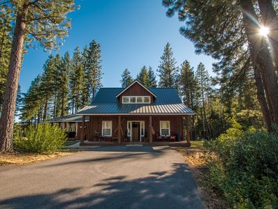 Photo for Meadow Wood Lodge, hot tub, WiFi, privacy, stunning acreage and Fido OK