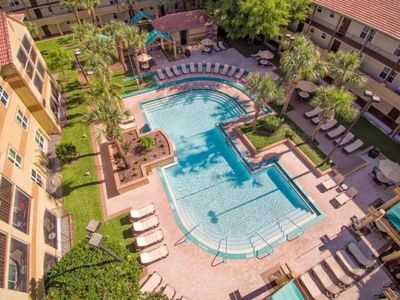 Photo for Rare Find! Three Comfy 2BR/2BA Suites for 18 Guests, 4 Pools, Shuttle to Parks
