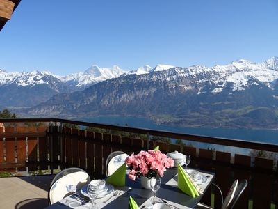 Photo for Beatenberg near Interlaken: Wonderful view of the lake and mountains