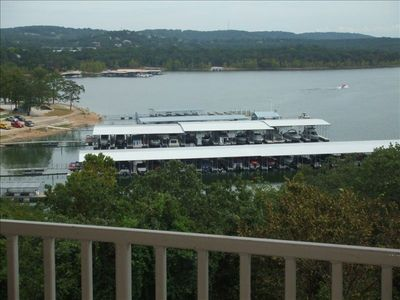 Rocklane Marina and Table Rock Lake View from balcony.