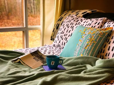Morning's are so Cozy next to the big window ☕️📖