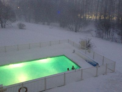 Photo for Alpe d'Huez ski-in / ski-out area Les Bergers residence 4 * with swimming pool