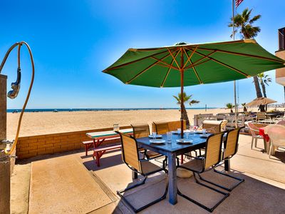 Photo for Perfect Beach Home ON the SAND, Large Patio, Endless Ocean Views