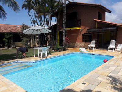 Photo for House of Beach..Recanto do Samurai Otake-200 mts from the beach, 6 bedrooms, swimming pool