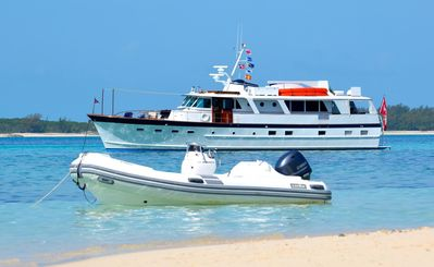Classic 70 ft BURGER motor yacht charter in the Bahamas