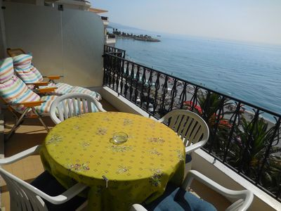 Photo for BEAUTIFUL APARTMENT FACING THE SEA. IN THE HEART OF MENTON