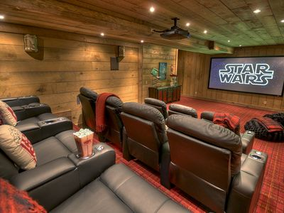 Theatre Room With Seating For 12 Plus Bean Bag Chairs
