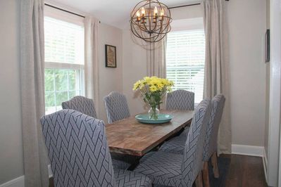 Dining Room where you can enjoy your favorite meal or use as a work space.