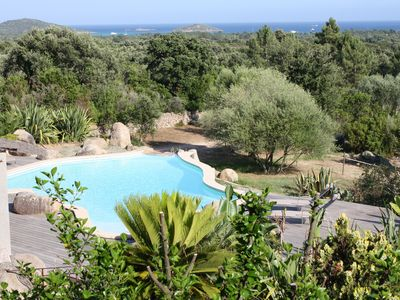Photo for Beautiful villa with pool and views of the bay of St Cyprien