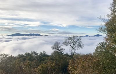 View with Clouds Below
