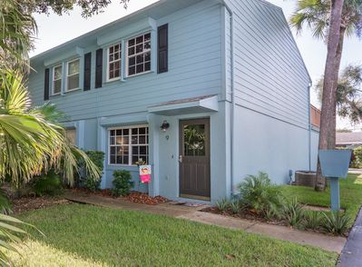 Entrance to this lovely town home. Just steps from Flagler Ave. in down town New Smyrna Beach.