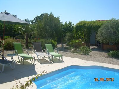 Photo for Villa in a vineyards at the foot of Mont Ventoux ideal to discover the Vaucluse