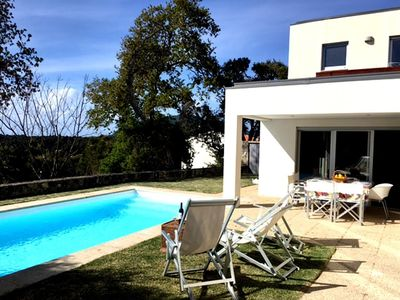 Photo for House in the center of Moledo with Internet, Pool, Air conditioning, Parking (658790)