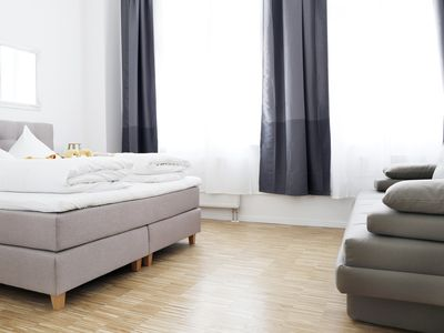 Photo for SC_4 boxspring beds + 4 bedrooms + 2 bathrooms + 110 sqm + balcony + elevator