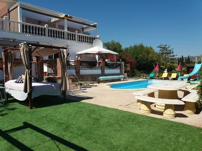 Photo for large villa, heated pool, jacuzzi, games room,playpark sleeps 18/20, 8 bedrooms
