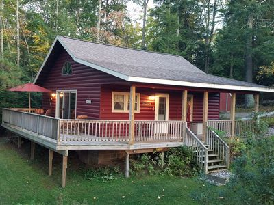 Wrap around deck w/ covered porch, lakeside views - perfect for sunset beverages