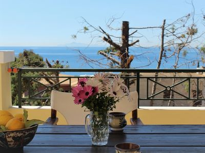 Photo for Villa BLUE SEA 1 with a magical view of the sea.