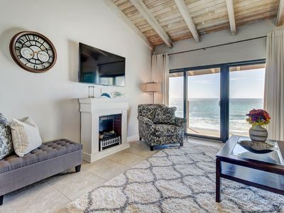 Photo for Oceanfront condo w/ shared pool & hot tub, direct beach access, & ocean views!
