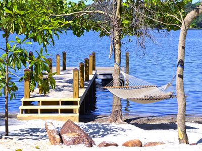 Intimate hideaway with Beach, Dock, Hot Tub, Pontoon Rental Availability, etc.