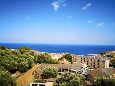 Photo for Duplex 110 m2, sea view, equipped handicap, parking place 20 m from the lift