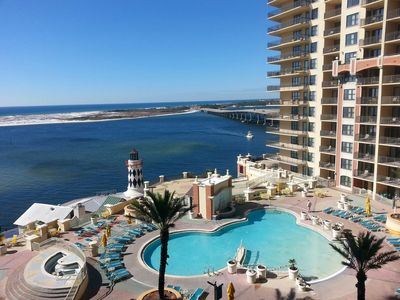 Photo for Emerald Grande 603🌞🌞3BR/2BA🌊Pool And Destin Harbor Views🌞🌞🌊Very Low Rates