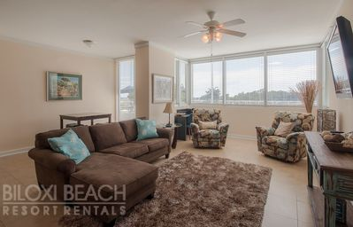 Photo for Luxury Condo near Beach w/ WiFi, Resort Pool & Fitness Center Access