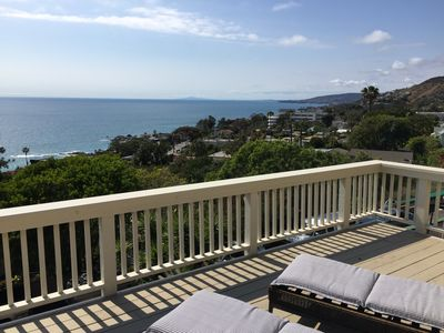 City of Laguna Beach viewed from the deck