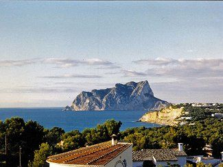 Ifach Rock from the Villa