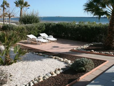 Photo for Comfort close to the beach, with mediterrian Garden and panoramic view