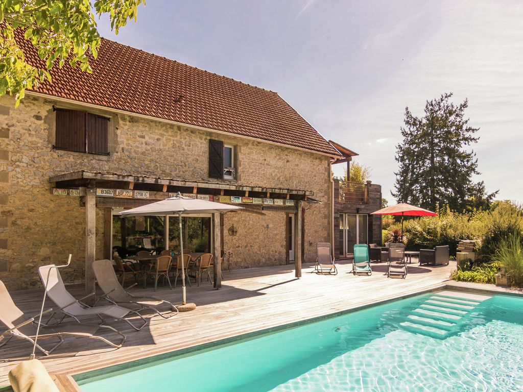Authentic Holiday Home With Private Swimming Pool Near Orchard La Chapelle Aux Saints Limousin