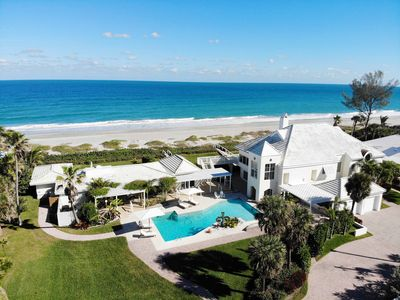 Photo for Two-Home Direct Oceanfront Family Vacation Estate with Pool & Cabana Bar