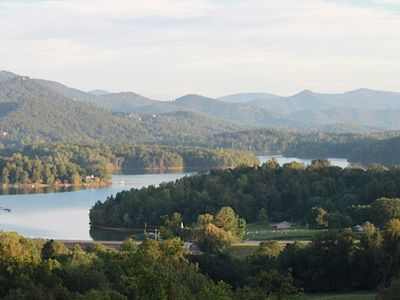 Photo for Deck, view, hotub, grill, stars.. Lake Chatuge and the Smokies - its all here !