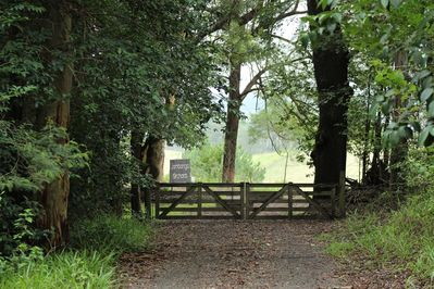 Rustic entry gate