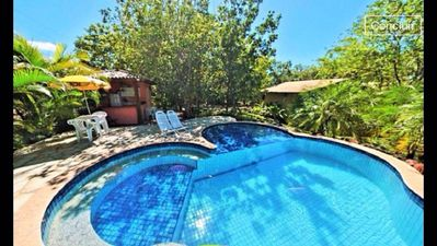 Photo for Spacious residential chalet with pool, equipped kitchen, sleeps up to 2 + children