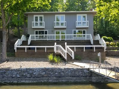 Photo for Beautiful 3 bedroom, 2.5 bath in NO WAKE cove with private dock