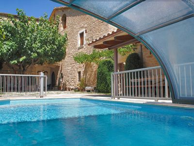 Photo for Spectacular traditional Catalan villa with heated private pool near beaches