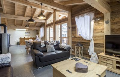 Photo for Luxury Chalet ****, 13 people, sauna, upscale, 160 m2, ski / bike room