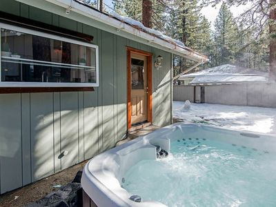 Photo for Contemporary Tahoe Cabin w/ private hot tub, 7 min from Heavenly, walk to lake